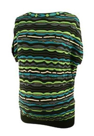 Green & Black Missoni Crazy Striped Bat Wing Maternity Wearable Top (Like New - Size 4 USA)