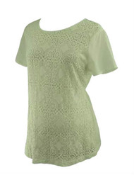 White A Pea in the Pod Maternity Crochet Maternity Blouse (Like New - Size Large)