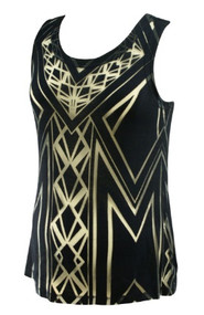 Navy TJ Collection for A Pea in the Pod Maternity Collection Laser Cut Mesh Maternity Tank Top (Gently Used - Size Medium)