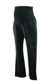 Black A Pea in the Pod Faux Pocket Boot Cut Maternity Pants (Gently Used - Size Medium)