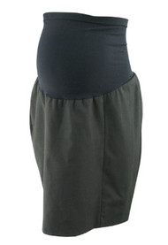 Black A Pea in the Pod Maternity Paneled Maternity Pencil Skirt with Slit in the Back (Gently Used- Size Large)