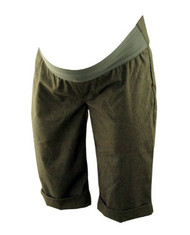 Charcoal Black GAP Maternity Capri Cuffed Trouser Shorts (Like New - Size Small)