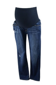 Dark Wash A Pea in the Pod Collection Maternity Jimmy Jimmy Maternity Crop Distressed Capri Pants (Gently Used - Size 30)