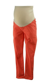 Burnt Coral J. Brand for A Pea in the Pod Collection Maternity Cropped Full Panel Capris (Gently Used - Size 30)