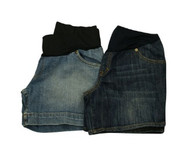 Lot of 2 Denim Shorts by Liz Lange Maternity for Target (Gently Used - Size Small)