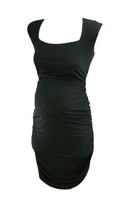 *New* Royal Navy  A Pea In The Pod Maternity Special Occasion Ruched Dress