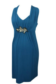 *New* Lagoon Embellished Maternity Dress by A Pea in a Pod (Size Small)