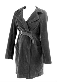 Raven Black Japanese Weekend Corduroy Maternity Wrap Dress (Like New - Size X-Large)
