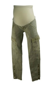 *New*  Olive J Brand Jeans For A Pea In The Pod Collection Maternity  Full Panel Cargo Skinny  Maternity Capris