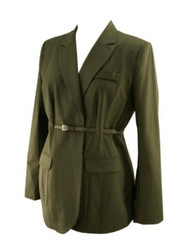 *New* Dark Gray A Pea in the Pod Maternity Career Blazer with Belt (Size Large)