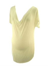 *New* Off White Splendid for A Pea in the Pod Collection Cowl Neck Tee (Size Large)