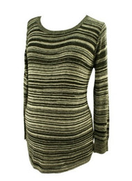 *New* Black and White Striped A Pea in the Pod Maternity Sweater Top (Size Large)