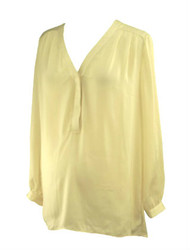 *New* Cream Misoka Maternity A Pea in the Pod Maternity Collection Maternity Blouse (Size Large)