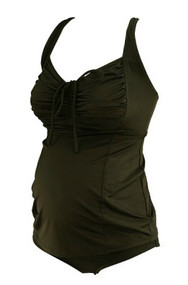 *New* Black A Pea in the Pod Maternity Maternity Matching Tankini Maternity Set (Size Small)