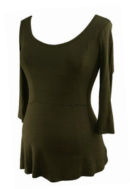 *New* Black A Pea in the Pod Maternity Casual 3/4 Sleeve Nursing Top (Size Small)