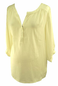 *New* Cream A Pea in the Pod Maternity 3/4 Sleeve Maternity Blouse (Size Large)