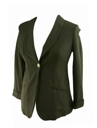 *New* Black A Pea in the Pod Maternity Career Maternity Blazer with Cuffed Sleeves (Size Small)