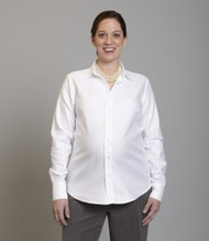 White Suits Your Belly  Maternity Career Shirts (Gently Used - Size Large)
