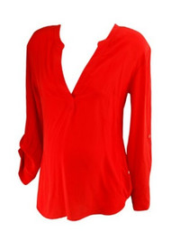 *New* Red A Pea in the Pod Maternity Career Maternity Blouse (Size Small)