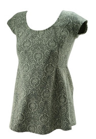 *New* Black & White Textured A Pea in the Pod Maternity Peplum Maternity Blouse (Size Medium)