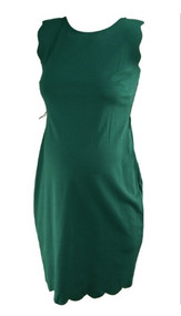 *New* Teal Green A Pea in the Pod Maternity Scalloped Maternity Dress With Missing Belt (Size Small)