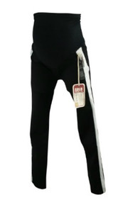 *New* Black with White Tuxedo Stripe Sold Design Lab Maternity Skinny Jeans for A Pea in the Pod Collection Maternity (Size Medium)