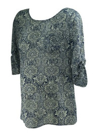 *New* Paisley Print A Pea in the Pod Maternity Career Blouse with Button Down Back and Adjustable Sleeve (Size Small)