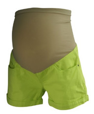 *New* Neon Lime Green A Pea In The Pod Maternity Full Panel Neon Maternity Shorts