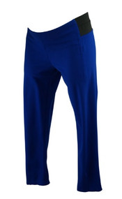 Electric Blue AND Maternity Casual Side Panel Maternity Pants with Ankle Zipper Detail (Gently Used - Size 36)