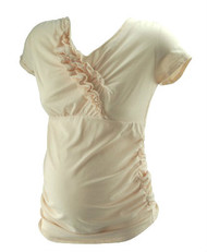 *New* Coral A Pea in the Pod Maternity Ruffle Maternity Design Top (Size Medium)