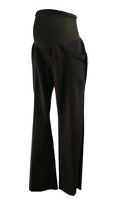 *New* Chocolate Two Hearts Maternity Boot Cut Maternity Pants (Size Large)