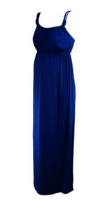 *New* Royal Purple A Pea in the Pod Maternity Braided Detailed Trim Maternity Maxi Dress (Size Medium)