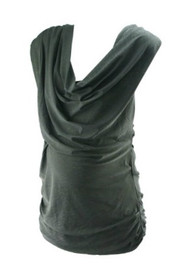 *New* Black Cowl Maternity Blouse by MM Couture by Miss Me for A Pea in the Pod Collection Maternity (Size Medium)