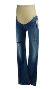 *New* Blue Hudson Jeans for A Pea in the Pod Collection Maternity Destruction Maternity Jeans (Size 30)