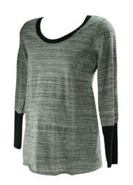 *New* Gray A Pea in the Pod Maternity Long Sleeve T-Shirt Top (Size Large)