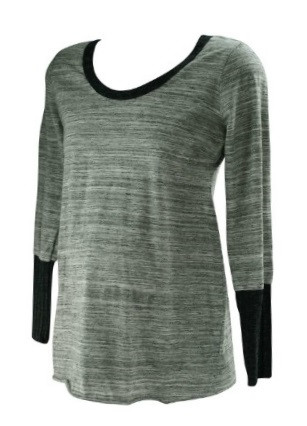 88497eb1e4b58 ... *New* Gray A Pea in the Pod Maternity Long Sleeve T-Shirt Top (Size  Large). Image 1. Image 1. Click to enlarge