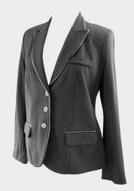 *New* Black A Pea in the Pod Maternity Career Maternity Blazer with Leather Trim (Size Small)