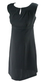 *New* Black A  Pea In The Pod Maternity Maternity Cap Sleeve Maternity Shift Dress Missing Belt