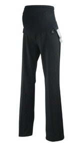 *New* Onyx Black Motherhood Maternity Full Panel Maternity Career Straight Leg (Size Petite X-Small)