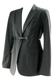 *New* Neutral A Pea in the Pod Maternity Belted Classic Stitching Career Jacket Maternity Blazer (Size Medium)