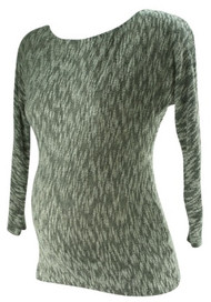 *New* Gray A Pea in the Pod Maternity Married 3/4 Sleeve Maternity Sweater Blouse (Size Small)