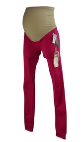 *New* Fluorescent Pink Sold Design Lab for A Pea in the PodCollection Maternity Skinny Jeans (Size X-Small)