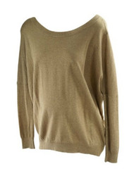 *New* Gold Glitter A Pea in the Pod Maternity Sweater (Size Large)