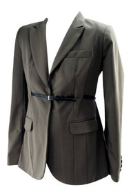 *New* Coffee Brown A Pea in the Pod Maternity Career Maternity Classic Suiting Jacket Blazer (Size Small)
