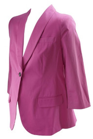 *New* Hot Pink One Button A Pea in the Pod Maternity Career Maternity Blazer (Size Large)