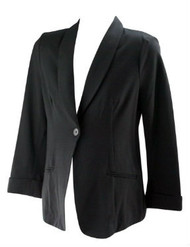 *New* Black A Pea in the Pod Maternity Career 3/4 Sleeve Maternity Blazer (Size Large)