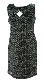 *New* Black and White Etched Print A Pea in the Pod Maternity Dress (Size Small)