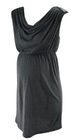 *New* Gray A Pea in the Pod Maternity Cowl Neck Casual Maternity Dress (Size Small)