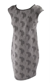*New* Black and White Chevron Front Maternity Dress by A Pea in the Pod Maternity (Size Large)