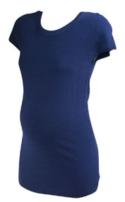 *New* Navy Short Sleeve A Pea in the Pod Maternity Knit Tee (Size Large)